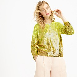 Collection neon ombré sequin sweater