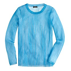 Collection ribbed gauze sweater