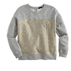 Collection metallic lace sweatshirt