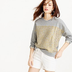 Collection metallic lace sweatshirt