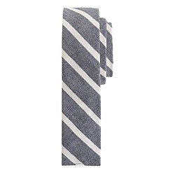 The Hill-side® narrow border stripe tie