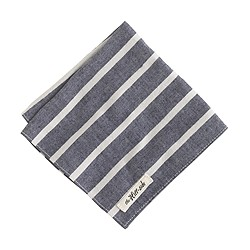 The Hill-side® narrow border stripe pocket square