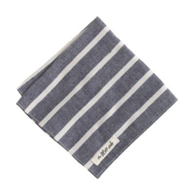 The Hill-side® narrow border stripe pocket square