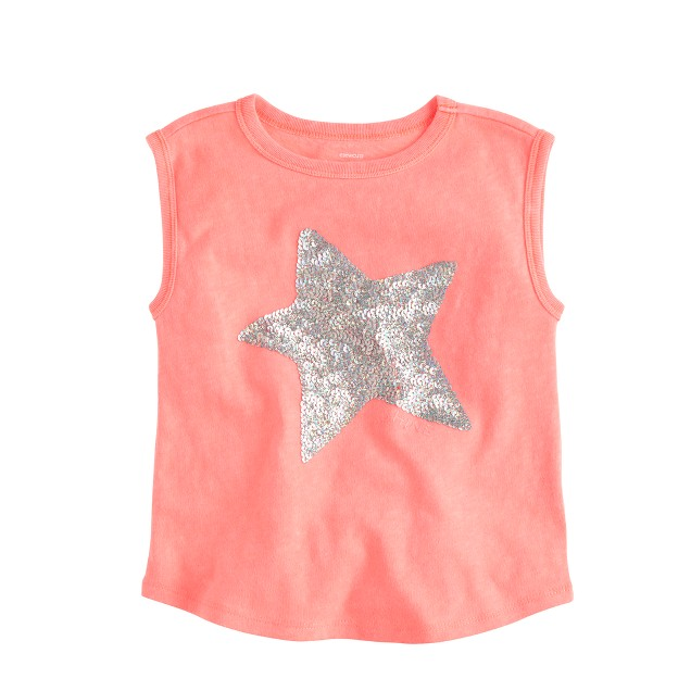 Girls 39 sequin star muscle t shirt j crew for Girls sequin t shirt