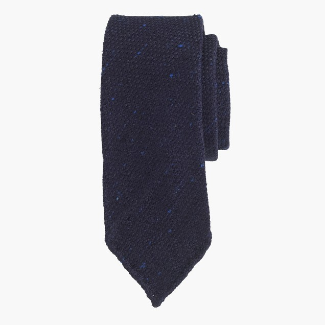 Drake's® large-weave grenadine tie in navy