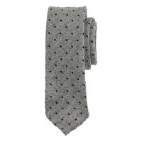 Drake's® basketweave spot tie in grey