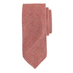 Drake's® Donegal-weave herringbone tie in red