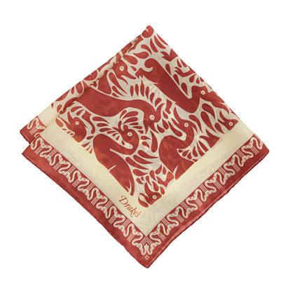 Drake's® silk pocket square in duck print