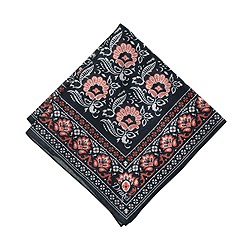 Drake® silk pocket square in navy floral
