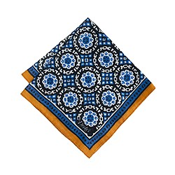 Drake's® silk pocket square in blue tile