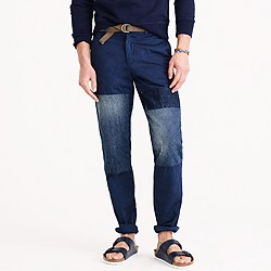 Wallace & Barnes denim-patched chino