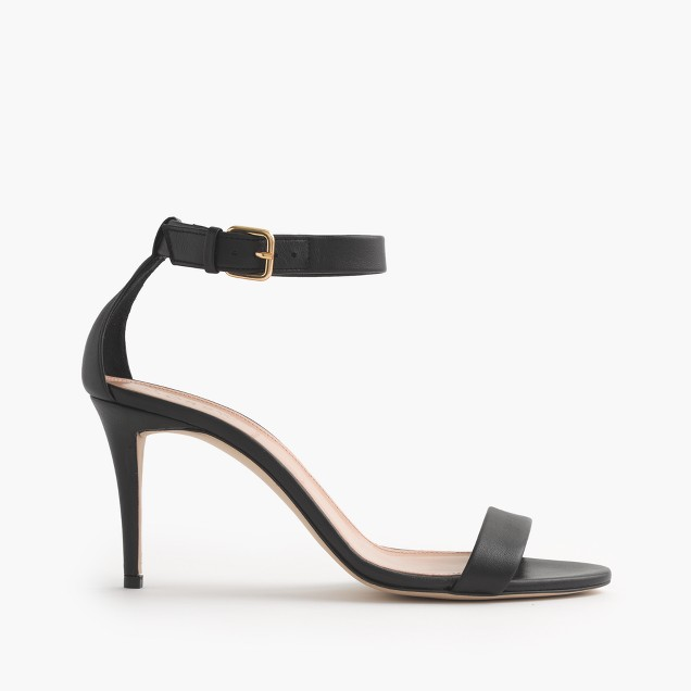High-heel ankle-strap sandals