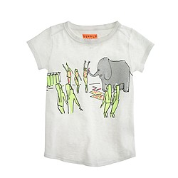 Girls' Donald Robertson™ for crewcuts drawing elephant T-shirt