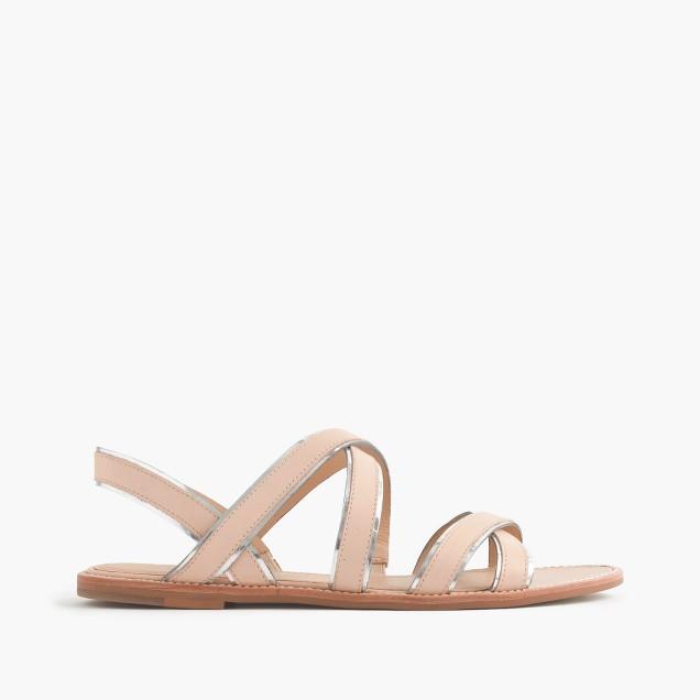 Mackenzie metallic-trim sandals