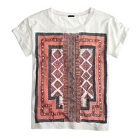 Graphic embroidery T-shirt