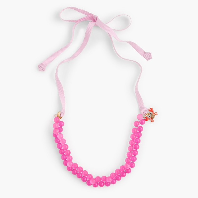 Girls' gumball charm necklace