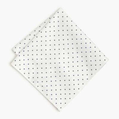 Cotton pocket square in large dot