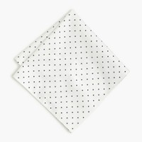 Cotton pocket square in large dot