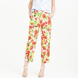 Collection cropped patio trouser in hibiscus