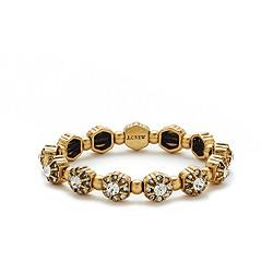 Metallic flower bracelet