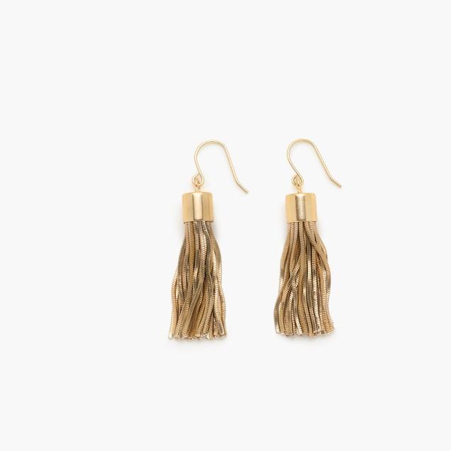 Metallic tassel earrings