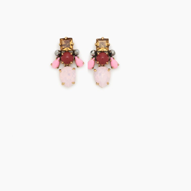 Crystal honeybee earrings