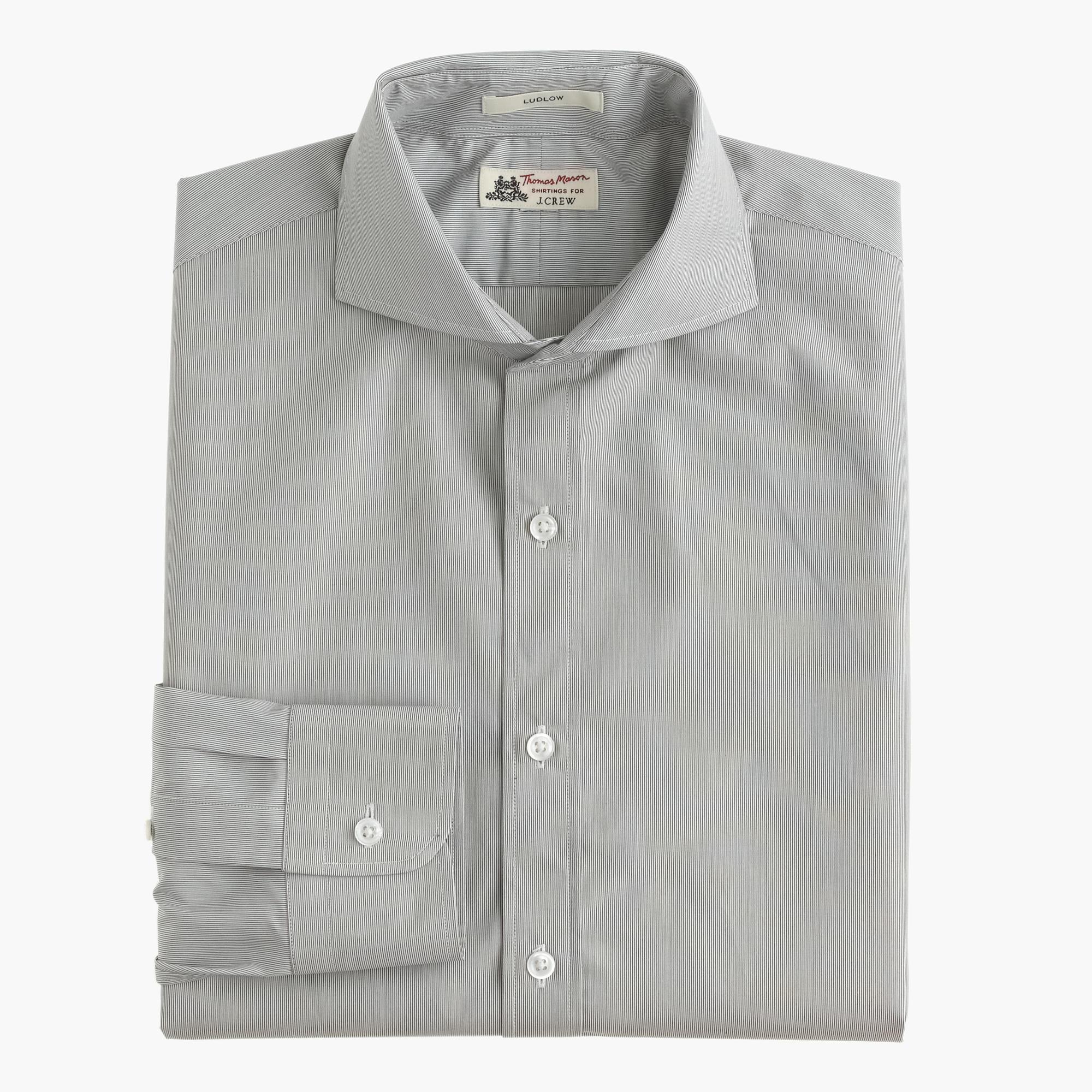 Thomas mason for j crew ludlow cutaway collar shirt in for Thomas mason dress shirts