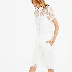 Collection sheer grid blouse