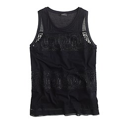 Lace panel tank top