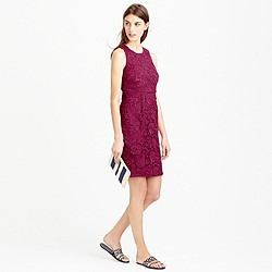 Tall sleeveless floral lace sheath dress