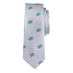Boys' silk turtles tie