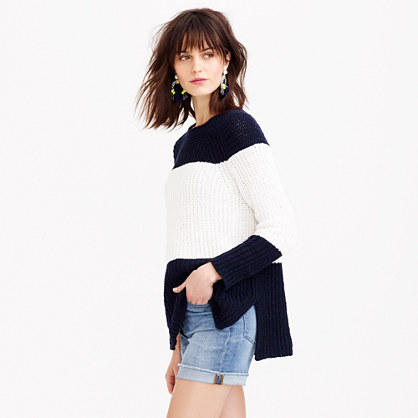 Sailor-striped sweater