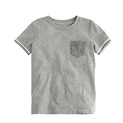 Boys' tipped-sleeve T-shirt