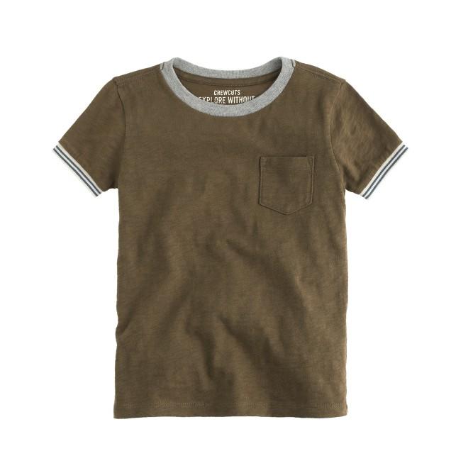 Boys' tipped-sleeve ringer T-shirt