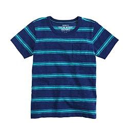 Boys' T-shirt in navy stripe