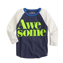 Boys' three-quarter-sleeve awesome T-shirt