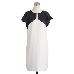 Tall linen dip-dyed dress