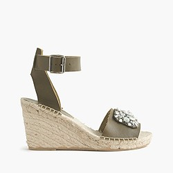 Corsica jeweled espadrille wedges