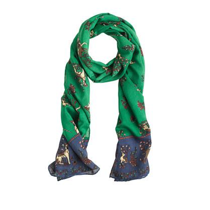 Drake's® wool unicorn scarf