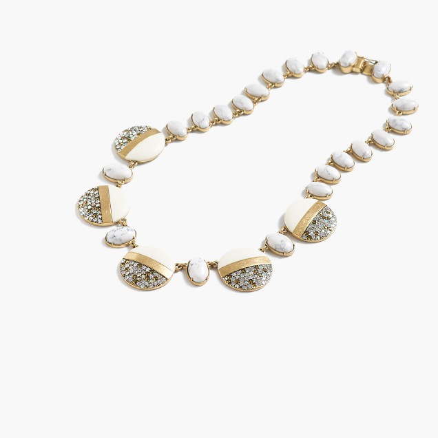 Lulu Frost for J.Crew stone-crystal disk necklace