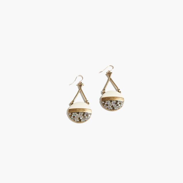 Lulu Frost for J.Crew stone crystal disc earrings