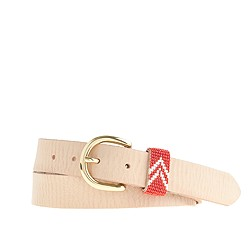 Leather beaded belt