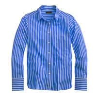 Petite vertical-striped shirt