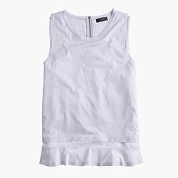 Double-hem tank top