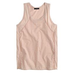 Inset embellished tank top