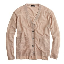 Merino linen V-neck cardigan sweater