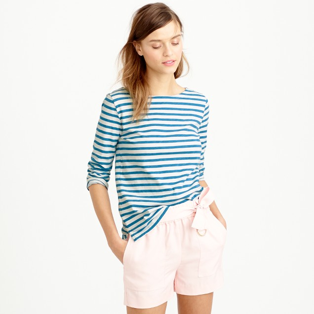 striped boatneck t shirt women 39 s activewear j crew