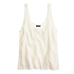 Italian cashmere swing tank top