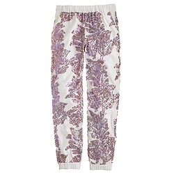 Seaside pant in iridescent sequin