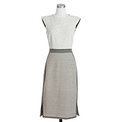 Mixed-tweed sleeveless sheath dress